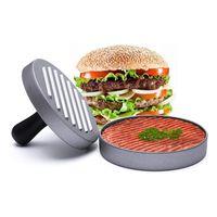 yapışkan şeyler toptan satış-Hamburger Basın Alüminyum Burger Basın-Ağır Yapışmaz Hamburger Patty Maker Dolması Burger, Cadılar Bayramı, Parti, BARBEKÜ Izgara ve Essen