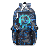 Wholesale college backpack bags for boys resale online - good quality College Women Men School Backpacks Anime Luminous Laptop Computer Backpack For Teenager Anti theft Boys Girls School Bags