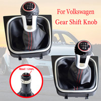 Wholesale car vw gti resale online - 5 Speed Car Manual Gear Shift Shifter Knob HeadBall With Boots For Volkswagen VW Golf MK6 GTI GTD R20