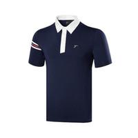 ingrosso magliette bianche da golf-Maglietta di golf dei nuovi uomini 2019 Maglietta di estate manica corta 4 colori Vestiti da golf Abbigliamento sportivo S-XXL Abbigliamento bianco per il tempo libero