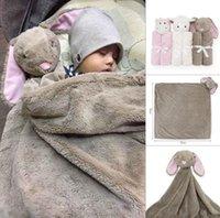babybär decken großhandel-2018 Säuglingsbaby Swaddle Baby-Mädchen-Bär Decke + Stirnband Neugeborenes Baby Soft Cotton Schlaf Sack Zweiteiler Schlafsäcke