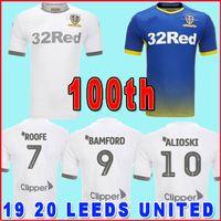 clubes de futbol al por mayor-TECHO 2019 2020 Leeds United Centenario 100 años camiseta blanca de fútbol de platino JANSSON de JANSSON ALIOSKI camisas de fútbol de camisas de fútbol