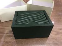cartões da gota venda por atacado-O transporte da gota verde Watch Box Original com cartões e caixa de Documentos Certificados Bolsas de 116610 116660 116710 Relógios