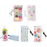 Tragbare Flaschenwärmer Heizung Reise  Milch Wasser USB Abdeckung Tasche Soft HK