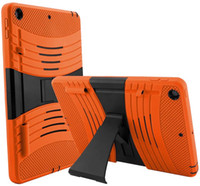 Wholesale tablet protection cases resale online - Designed For Ipad th Generation Shockproof Protection Lateral Kickstand Full Body Rugged Protective Tablet Case Cover