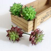ingrosso arrangiamenti artificiali artificiali-NUOVO 1Pc Terra Lotus piante rare succulente erba artificiale paesaggio vegetale Fiore Falso Disposizione all'ingrosso Garden Home Decor