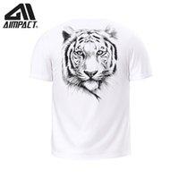 neu gedruckte t-shirts großhandel-3D Tiger Druck Männer T-shirts 2019 Neue Mode Sommer Rundhalsausschnitt Kurzarm T-shirts Männliche Marke Kleidung Casual Tops Tees AM1225