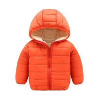 chicas largas abrigos de invierno venta al por mayor-Venta caliente Niños Chaquetas Gruesas Calientes Abrigos de invierno de manga larga Prendas de abrigo Bebé Niñas Abrigos Chaquetas Ropa para niños