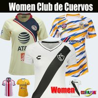eae280818 Women Jersey Mexico Club de Cuervos Soccer Jerseys Girl Lady 19 20 Home  White Club America Chivas Tigres Third Away Football Shirts