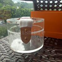 saco de cosméticos pvc transparente roxo venda por atacado-2019 scott armazenamento plexiglass saco botão de metal caixa de armazenamento de maquiagem pvc geléia sacos claros designer saco transparente GI0203 caixa de presente1564570176677