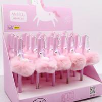 duş önerileri toptan satış-Unicorn Parti Kalemler Kawaii Şekeri Peluş Kolye Kalem Çocuklar Doğum Günü Düğün Konuklara Hediyeler Iyilik Bebek Duş Süslemeleri