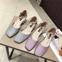 Wholesale mary janes flats resale online - Newest Sequins Gradation Beach Wedding Shoes Flatforms Summer Holiday Sandals Toe Bridal Shoes Evening Toe Banquet Party Prom Women Shoes
