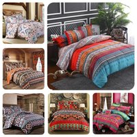 Wholesale 3d print bedding set full for sale - Group buy Bohemian colored vintage Series Three pieces set bedding Luxury Quilt Set flower bed linen Bedding Outlet Life Sets for Kids Home decor