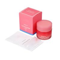 cosméticos hidratantes venda por atacado-Laneige Cuidados Especiais Lip Sleeping Máscara Lip Balm Batom Hidratante LZ Marca Lip Care Cosméticos 3001282