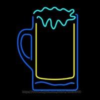 offene schilderbrille großhandel-Cocktails Gläser Bar Offene Leuchtreklame Disco KTV Club Hotel Echtglasrohr Handgemachte Custom Store Softdrink Display Leuchtreklamen 16