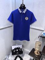 bilder für t-shirt großhandel-New Mens Designer Polo-Shirts 3 Farben drucken T-Shirt Jewel kurzen Ärmeln Designer Polo-Shirts echte Bildqualität