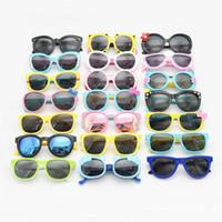 óculos infantis venda por atacado-Moda Infantil Óculos De Sol Dos Desenhos Animados Óculos De Sol Polarizada UV400 Eyewear Shades Googles Para Bebê Crianças Infantil oculos de sol Multicolors