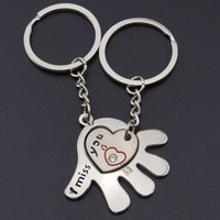 Wholesale Hand Shape Interesting Keyring Heart Handbag Charms Purse Keychain for Women Can Laser Your Logo