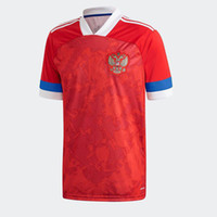 Wholesale russia for sale - Group buy 2020 European Russia HOME Soccer Jerseys National Team AKHMETOV DZYUBA GOLOVIN Soccer Shirt SMOLOV YUSUPOV Football Uniform