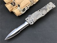 Wholesale survival technologies online – design Technology Medium D A AUTO Knife Inch Knifes A161 Survival Knife Military Knives Woodland Camouflage EDC Tools P91Q