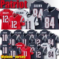 josh futebol venda por atacado-New Patriot 12 Tom Brady Jerseys 10 Josh Gordon 11 Julian Edelman 87 Rob Gronkowski 15 Chris Hogan Football Jersey