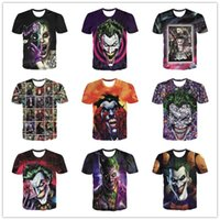 ingrosso giubbino t-shirt-Nuovo 2019 uomini / donne 3d T-Shirt Stampa Joker Manica corta Estate Tops Tees T shirt Moda taglia M-5XL