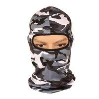 huellas de caza al por mayor-Nueva 2018 táctica pasamontañas de caza máscara facial camuflaje impresión camuflaje CS cabeza transpirable capucha máscara de selva