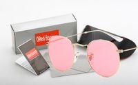 Wholesale sunglasses packs online - 10set summer men gradient colour Sunglasses case outdoors Fashion women driving Sunglasses color with original packing