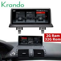 bmw gps radio venda por atacado-Krando Android 9.0 10.25 '' áudio do carro dvd para BMW 1 Série E81 E82 E87 E88 2006-2012 (original sem tela) GPS de navegação