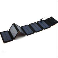 tragbares mobiles mp4 großhandel-9 Watt Mono Solar Panels Ladegerät Tragbare Solar Power Bank Im Freien Notfall 5 V / 2A Ladegerät für Handy-Tablets