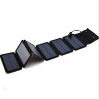 mp5 tablette großhandel-9W Mono Solar Panels Ladegerät Portable Solar Power Bank im Freien Notfall 5V / 2A Ladegerät für Handy-Tablets