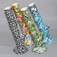 Wholesale quality smoking pipes for sale for sale - Group buy Hot Sale high quality silicone bong For Smoking Bongs Silicone Water Pipe Dab Jar Dabber Wax silicone water pipes