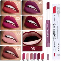 Wholesale multi function lips for sale - Group buy CmaaDu Multi function Lip Line Pen Double End Lipstick Waterproof Long lasting Non stick Cup Moisturizing Lip Gloss pencil DHL
