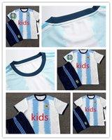 argentinien fußball socken großhandel-Copa America 2019 Kinder Argentinien Fußball Trikot 2020 Kinder KITS + SOCK 19 20 MESSI DYBALA MARADONA AGUERO DI MARIA HIGUAIN Kinder Fußball Trikot