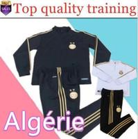 novo sportswear venda por atacado-Nova 2019 2020 Argélia MAHREZ BOUNEDJAH terno de treinamento de futebol 19 20 Real Madrid Survivement maillot de pé Paris sportswear set tra futebol