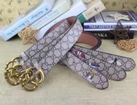 cintos de camurça mens venda por atacado-Marca de moda marrom dos homens Cintos BEE Pin fivela de cintos de couro genuíno para homens designer de cinto de mulheres cintos de cintura
