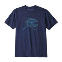 серые мужские рубашки поло оптовых-Brand New Patagonia мужские дизайнерские футболки Patagonia Mountain Футболка Мужчины Женщины высокого качества вскользь конструктора рубашка Серый Синий