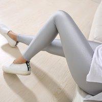 zayıflama tozlukları spandex toptan satış-Lady Katı Şeker Renk Neon Tayt yüksek elastik Sıska Pantolon yumuşak ince legins Egzersiz ince Pantolon rahat spandex legging