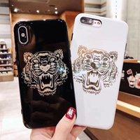 caso do tpu da cor do iphone dois venda por atacado-Wholesale Designer phone case para iphone 6/6 s 6 p / 6 p 7/8 7 p / 8 p x / xs xr / xs max design de moda com tigre tpu protetora real capa de duas cores