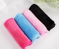 макияжное полотенце оптовых-40 * 17 см для снятия макияжа полотенце из натуральной микрофибры очистка кожи полотенце для лица салфетки для лица ткань для стирки свадебное полотенце SN3257
