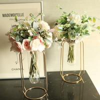 4 Colors Silk Peony Hydrangea Hybrid Bouquet Artificial Flower Bridal Bouquet Wedding Decoration DIY Home Party