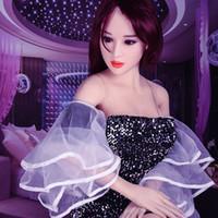 ingrosso bambole di sesso nero solido-Trasporto libero 2019 148 cm vendita calda nessun odore TPE vera bambola del sesso figa in silicone bella piccola bambola del sesso giapponese Molly per gli uomini adulti