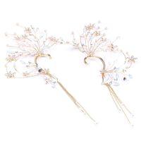 ingrosso nappa coreana di nozze-Bridal Jewelry Strass Handmade Wedding Nappa Orecchini Accessori da sposa Orecchini coreano di fascia alta