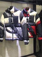 men s casual jacket designs groihandel-Neuestes Design Frankreich Marke Men Casual Down Jacket Daunenjacke Herren Outdoor-Pelz-Kragen-Warm-Feder Färbung Wintermantel Jacken