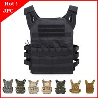 Wholesale cs outdoor tactical vest resale online - Hunting Tactical Body Armor JPC Molle Plate Carrier Vest Outdoor CS Game Paintball Vest Equipment