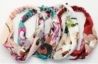 Wholesale flower girl hair band design resale online - 2019 Luxury Design US and EU popular Cross Headband Women Girl Elastic Hair bands Retro Turban Headwraps Gifts Flowers Hummingbird Orchid