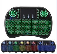 remoter keyboard 도매-스마트 안드로이드 TV 박스 노트북 태블릿 PC 미니 I8 무선 키보드 백라이트 백라이트 2.4G 에어 마우스 키보드 원격 제어 터치 패드
