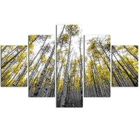 diyanet sanatları toptan satış-5 adet Çok resimler sonbahar ağacı diy elmas boyama Tam yuvarlak matkap Mozaik Elmas Nakış El Yapımı ev dekor duvar sanatı