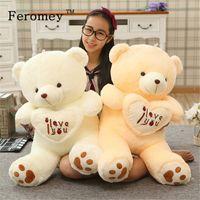 ingrosso bambole di grandi dimensioni orso-Big Size Ti amo Teddy Bear grande farcito peluche bambola giocattolo tenendo amore cuore teddy bear morbido farcito bambola regalo per fidanzata