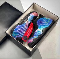 zapatos de fibra de carbono al por mayor-2019 el más nuevo lanzamiento de FOAM ONE GALAXY ALTERNO Penny Hardaway One Men Basketball Shoes Real zapatillas de deporte de fibra de carbono al aire libre tamaño 5-13